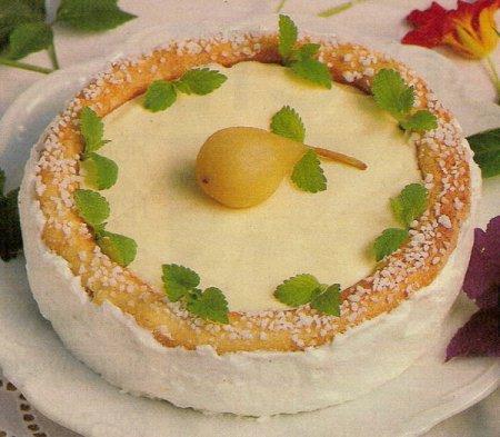 Рецепт Грушевый торт с винной пропиткой