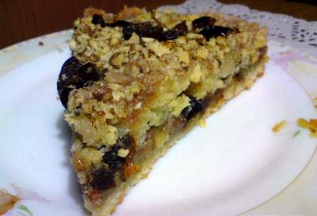 Рецепт Овсяный пирог с финиками и орехами