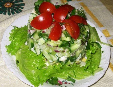 Рецепт Салат с икрой мойвы