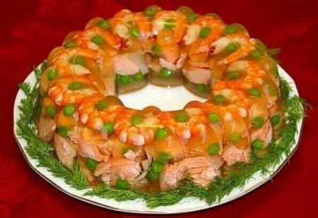 Рецепт Заливное из сёмги с креветками