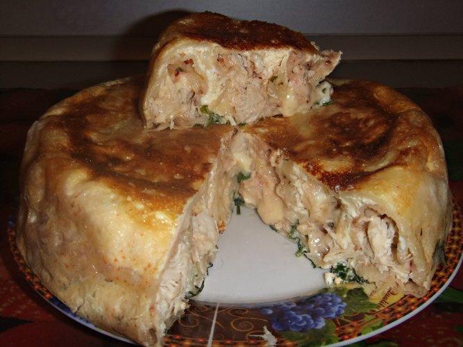 рецепт лаваш с мясом запеченный в мультиварке фото