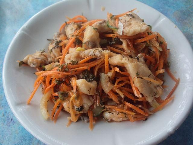 Хе из печени с морковью
