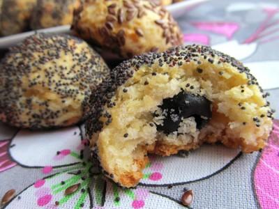 Рецепт Сырное печенье с начинкой из маслин