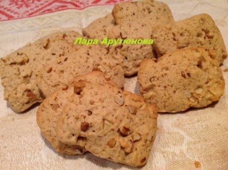 Рецепт Кофейное печенье с грецкими орехами