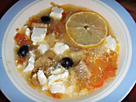 Рыбный суп по-гречески в мультиварке