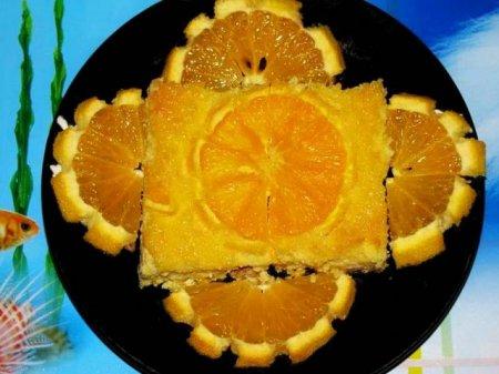 Рецепт Творожно-апельсиновый пудинг