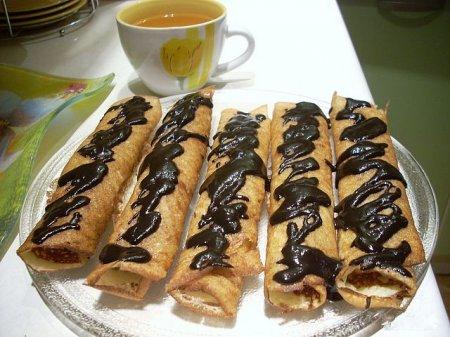 Рецепт Блинчики дрожжевые с жаренными бананами