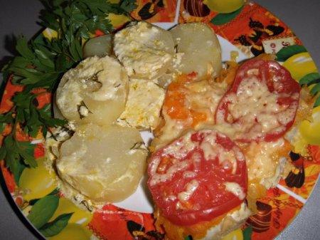 Рецепт Камбала в овощной шубке в мультиварке