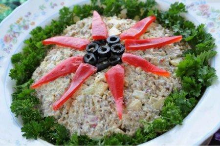 Рецепт Салат с сельдереем и грибами