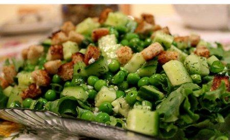 Рецепт Салат из фасоли, «цветной» капусты и зеленого горошка