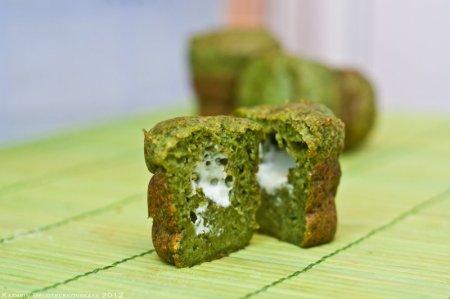 Рецепт Зеленые маффины с сыром