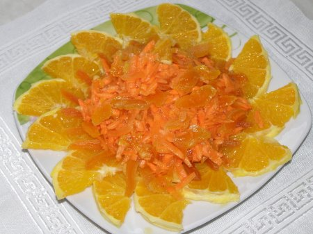 Рецепт Оранжевый салат для улучшения настроения и иммунитета