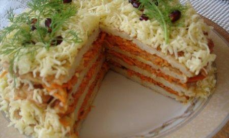 Рецепт Мясной закусочный торт