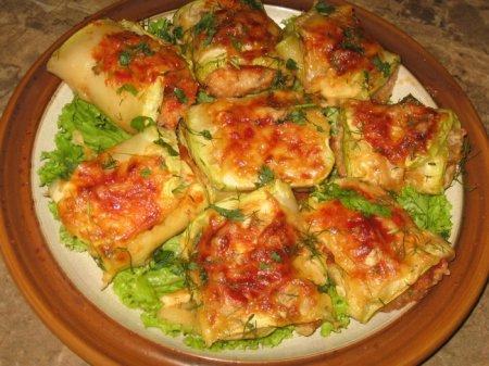 Рецепт Рыба в кабачке