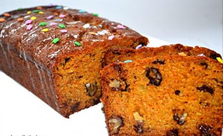 Рецепт Морковно-яблочный пирог с изюмом и орехами