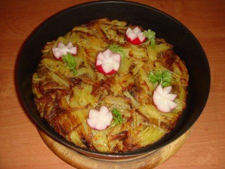 Рецепт Картофельный пай с маслятами
