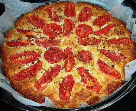 Рецепт Творожная запеканка с овсянкой и помидорами
