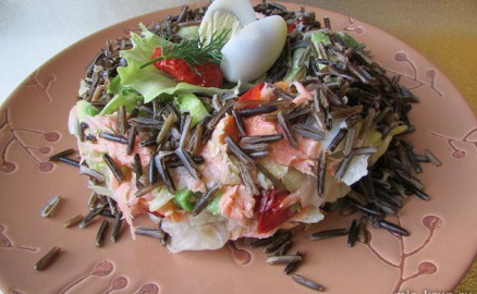 """Рецепт Салат """"Гнездо фламинго"""""""
