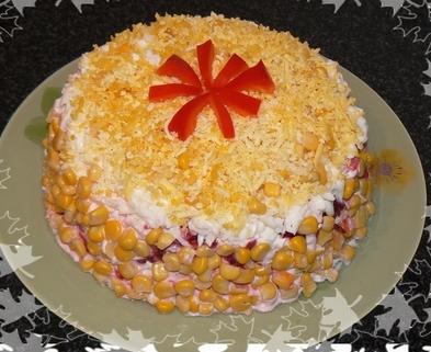 "Рецепт Торт-салат ""к праздничному столу"""