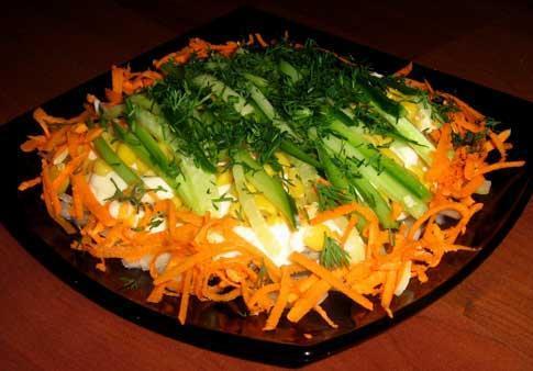 Салат пражский рецепт слоями 200