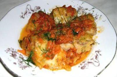Рецепт Камбала с морковью