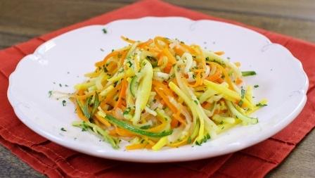 Рецепт Салат из кабачков и моркови