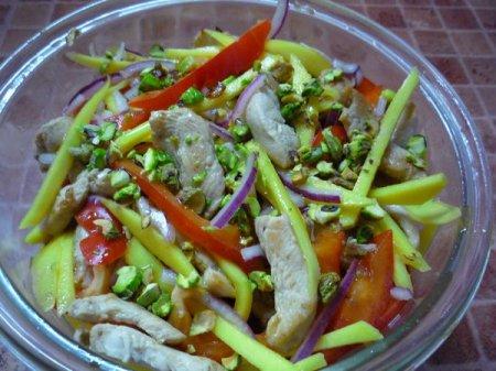Рецепт Салат из курицы с манго