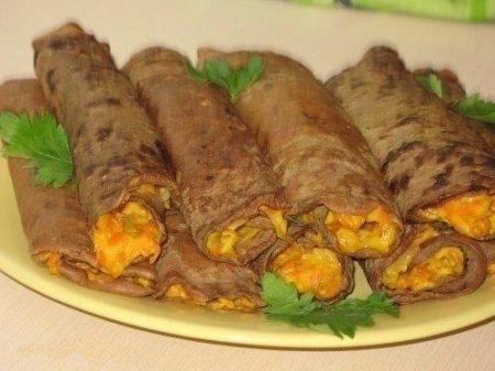 Рецепт Блинчики печеночные с начинкой