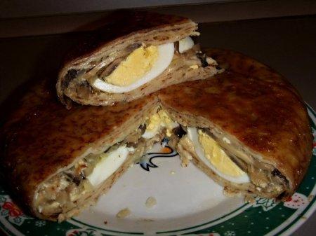 Рецепт Блинчатый пирог в мультиварке