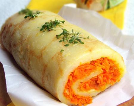 Рецепт Картофельный рулет с морковью