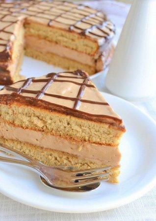 Рецепт Кофейный торт с кофейно-шоколадным муссом
