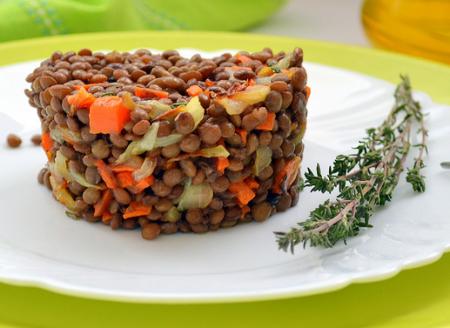 Рецепт Салат совсем простенький из чечевицы