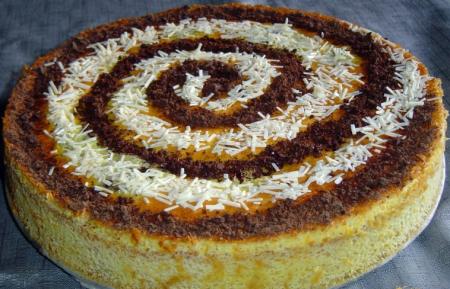 Рецепт Пирог с персиками и шоколадом