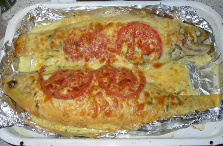 Рецепт Форель радужная, запеченная в духовке