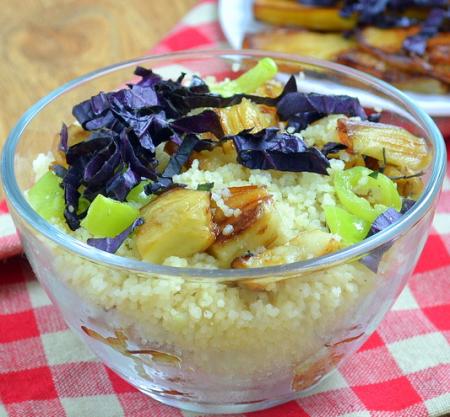 Рецепт Кус- кус с баклажанами