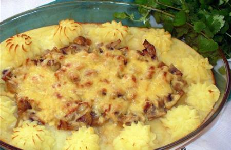 Рецепт Запеченные шампиньоны с картошкой