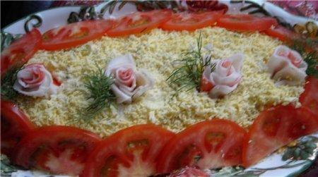 """Рецепт Салат """"Розовый вечер"""""""