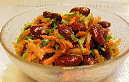 Рецепт Cалат с фасолью и морковью
