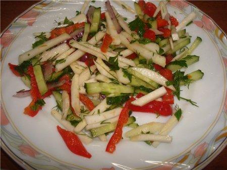 Рецепт Салат с корнем сельдерея и яблоком