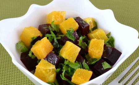 Рецепт Салат из свеклы и апельсина