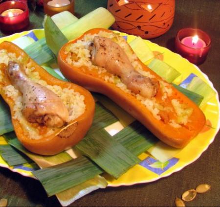Рецепт Куриные ножки в тыквах