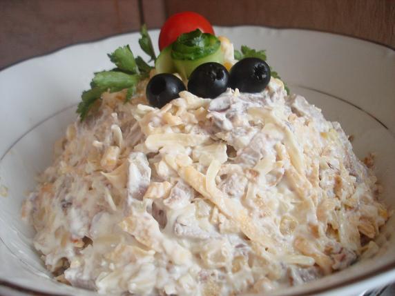 салат с языком и орехами рецепт с фото