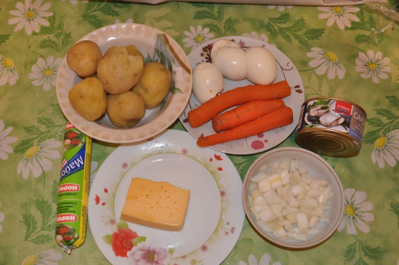 Мимоза рецепт с сардиной