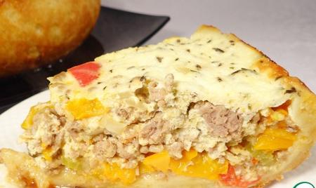 Рецепт Пирог из сладкого перца и фарша