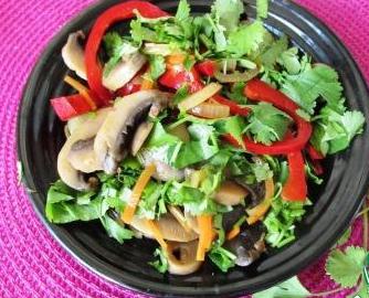 Рецепт Салат из шампиньонов в корейском стиле
