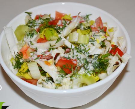 Рецепт Салат из пекинской капусты и сельдерея