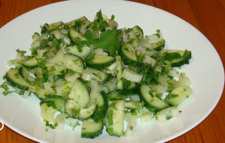 Рецепт Салат огуречный с сельдереем