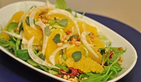 Рецепт Салат из фенхеля с апельсинами