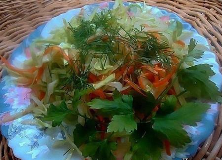 Рецепт Овощной салат-ассорти с имбирной заправкой