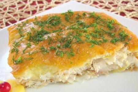 Рецепт Рыба в сырном суфле